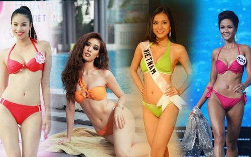 4 Hoa hậu Hoàn vũ Việt Nam thời còn thi thố, diện bikini body ai 'đỉnh' nhất?