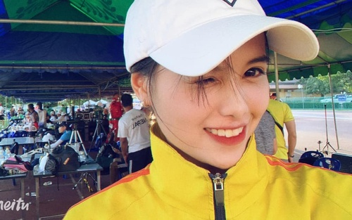 Cận cảnh nhan sắc xinh như hoa khôi của hot girl bắn cung Ánh Nguyệt gây thương nhớ ở Olympic 2020