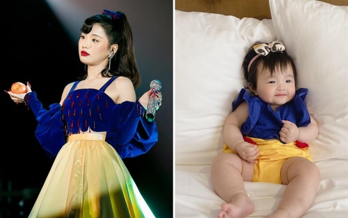 Bắt chước Han Sara, Winnie con gái Đông Nhi cosplay thành nàng 'Bạch Tuyết' phiên bản The Heroes