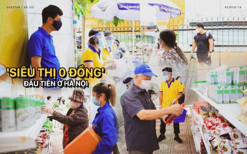 'Siêu thị 0 đồng' đầu tiên ở Hà Nội chính thức mở cửa phục vụ người dân bị ảnh hưởng bởi dịch Covid-19