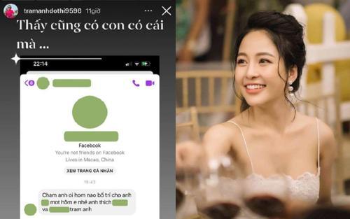 Hotgirl Trâm Anh vì bị 'gạ tình' bằng tin nhắn tục tĩu