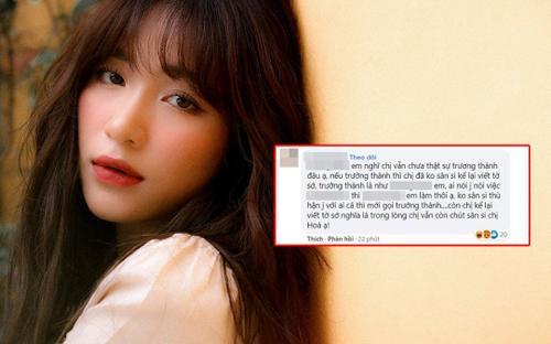 Hòa Minzy 'bớt bốc đồng' không muốn cãi nhau với anti fan nhưng không quên cà khịa netizen đầy lầy lội