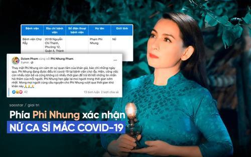 Phía Phi Nhung xác nhận nữ ca sĩ mắc Covid-19, mong khán giả cầu nguyện để cô vượt qua giai đoạn khó khăn