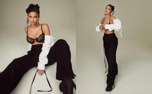 Mang thai lần 2, Kylie Jenner tạo dáng 'căng đét' trên bìa tạp chí Elle