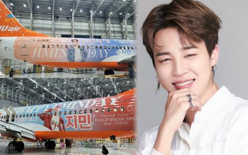 Fan Jimin (BTS) quyết chơi lớn, thiết kế cả chiếc máy bay có hình nam thần tượng