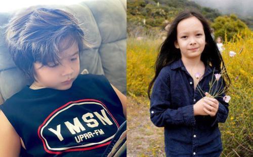 Con trai sao Việt để tóc bồng bềnh, con Hồng Nhung tóc còn dài hơn thiếu nữ