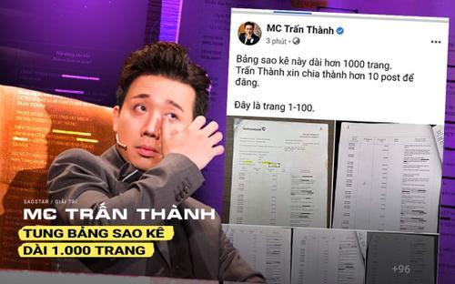 MC Trấn Thành tung bản sao kê dài 1.000 trang sau loạt ồn ào từ thiện