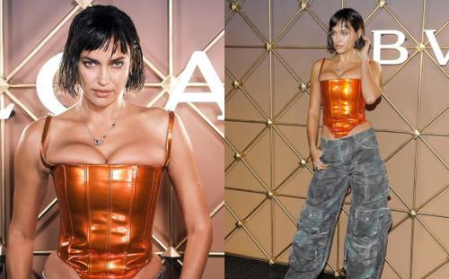Irina Shayk bị chê là thảm họa, như 'dị nhân' với áo corset, lộ hết khuyết điểm