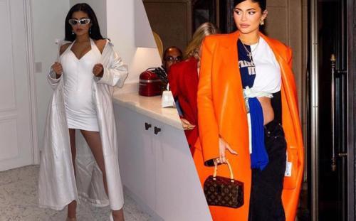 Kylie Jenner mang bầu vẫn mặc váy áo ngắn ngũn 'căng đét' ra phố