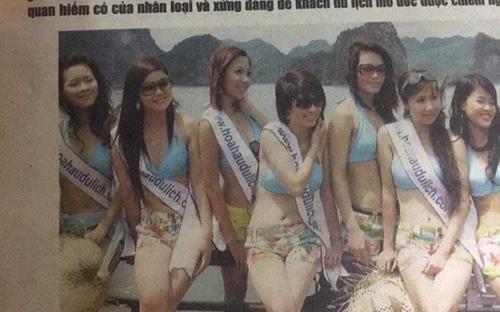 Ảnh thi Hoa hậu của Pha Lê bị soi bụng nọng mỡ, Hà Hồ bị loại vì vi phạm quy chế thi