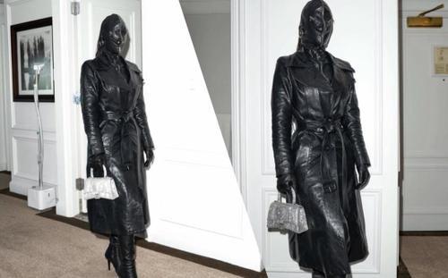 Kim Kardashian gây 'choáng' khi diện đồ kín mặt như sát thủ