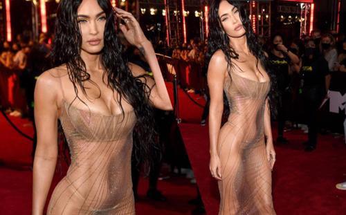 Megan Fox mặc váy trong suốt, khoe thân triệt để gây 'náo loạn' thảm đỏ VMAs 2021
