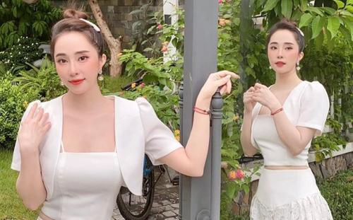 Diện váy trắng tinh khôi, Quỳnh Nga hóa nàng thơ xinh đẹp dịu dàng khiến bao người say đắm