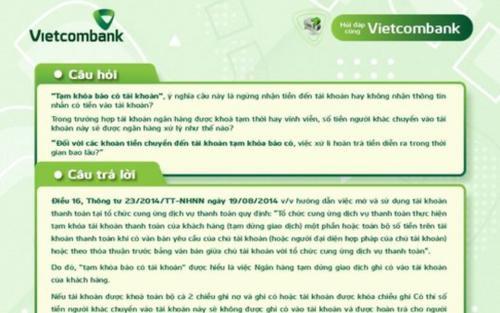 Cực nóng: Vietcombank vừa trả lời chi tiết thắc mắc về cụm từ 'tạm khoá báo có'