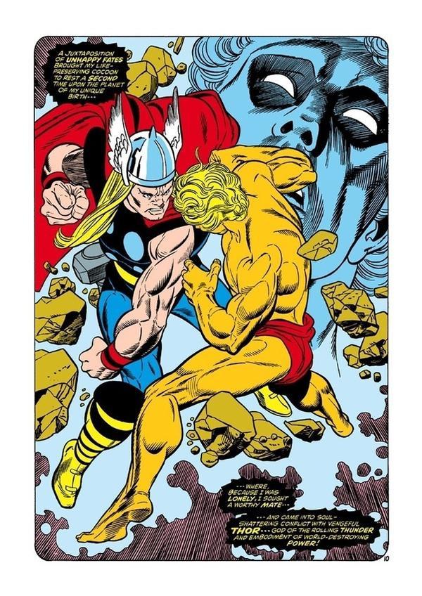 Adam Warlock đối đầu với Thor