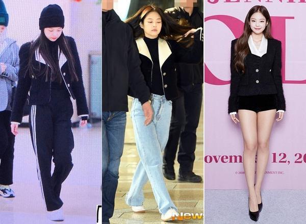 Chỉ với một kiểu áo khoác, nàng Jennie (Black Pink) đã chinh phục hết từ style thể thao năng động cho đến sang chảnh kiêu kì.