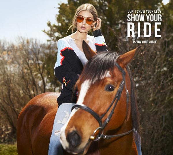 Ít ai biết được Gigi từng được xem là có tài năng thiên bẩm trong môn đua ngựa và đủ điều kiện để tham dự Thế vận hội Olympic (Ảnh: Vogue)