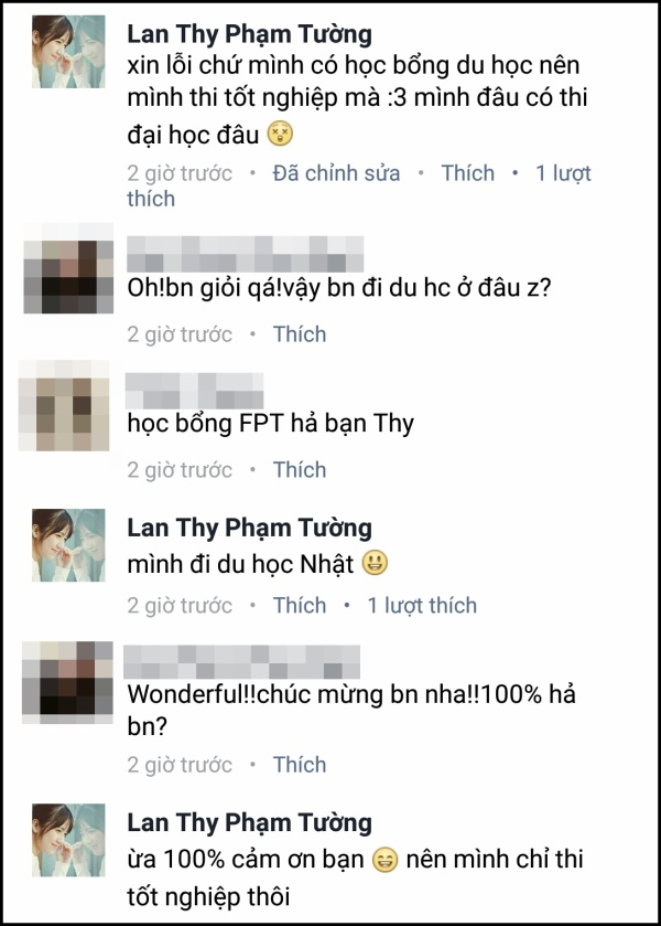Lan Thy lên tiếng giải thích lý do nhận điểm thấp trong kỳ thi THPT Quốc gia năm 2016.