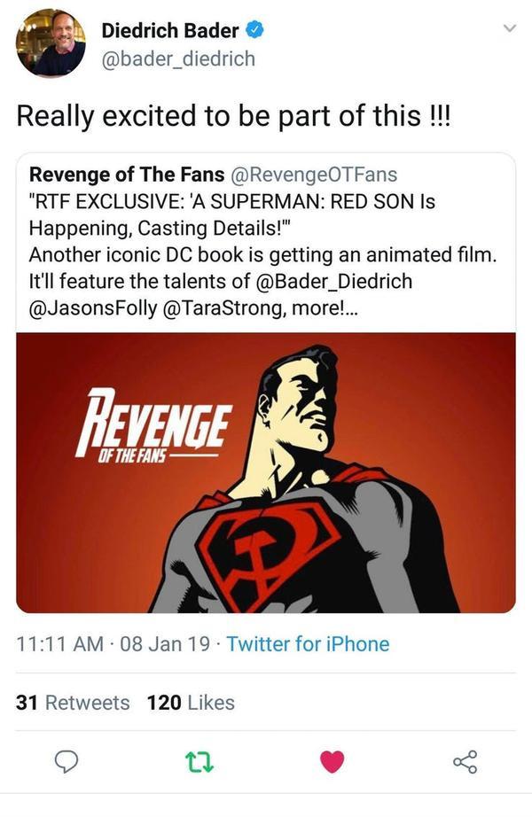 Nam diễn viên chính thức xác nhận tham gia Superman: Red Son