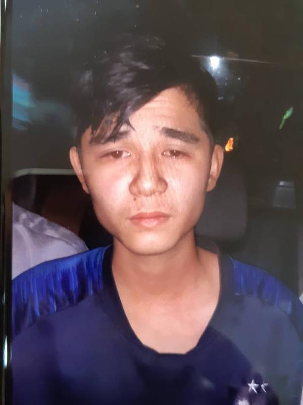 Nghi phạm Nguyễn Cảnh An sau khi bị bắt giữ.