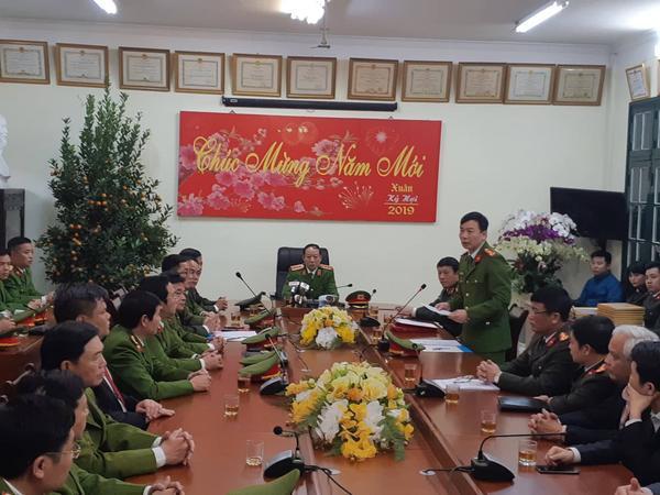 Phòng CSHS, Công an TP Hà Nội báo cáo kết quả vụ án.