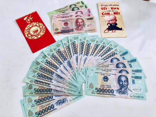 Số tiền lì xì của Bánh Gạo được Thủy Tiên công khai.