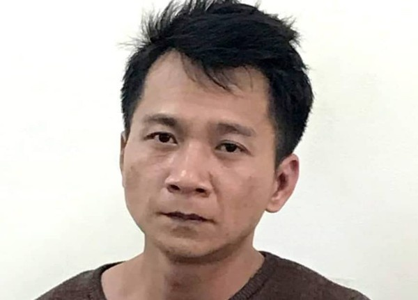 Đối tượng Vương Văn Hùng tại cơ quan điều tra