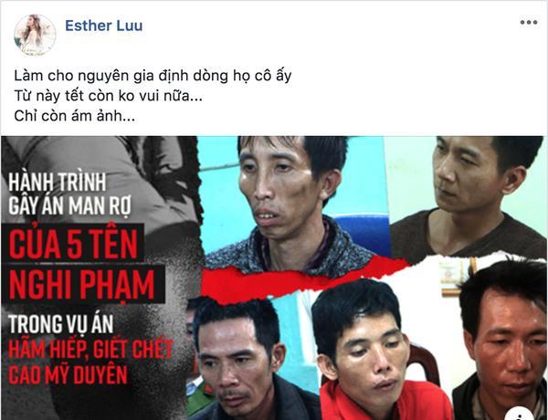 Hariwon  Tóc Tiên  HHen Niê cùng loạt sao Việt đồng tâm hợp lực lên án hành vi cưỡng bức và giết người