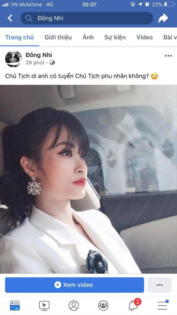 Theo trend chủ tịch, Ông Cao Thắng xin lỗi Đông Nhi vì đã có phu nhân mất rồi!