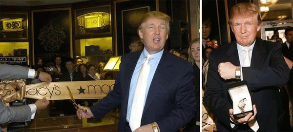 Ông Donal Trump khoe khéo chiếc đồng hồ Rolex vàng khác cùng chiếc Patek Philippe vàng 18k đang đeo trên tay.