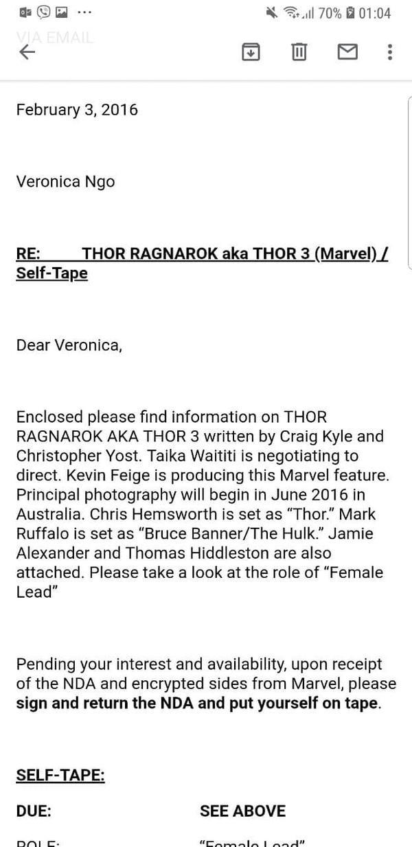 Cả Thor: Ragnarok…