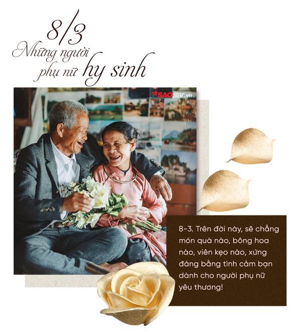 8/3 hãy bày tỏ tấm lòng mình đối với người bạn gái, người vợ, người mẹ, người bà thân yêu.