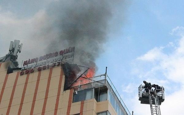 Tòa nhà nơi xả ra vụ hỏa hoạn.
