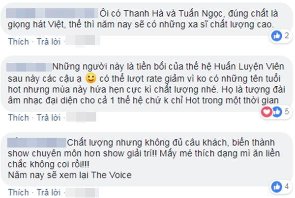 """Khán giả tranh luận sôi nổi về sức hút của chương trình nhưng đặc biệt yên tâm về """"chất lượng"""" đúng tầm Giọng hát Việt."""
