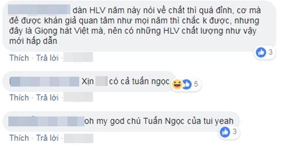 """Các fan đồng loạt công nhận: """"Giọng hát Việt nên chó những HLV chất lượng như vậy""""."""