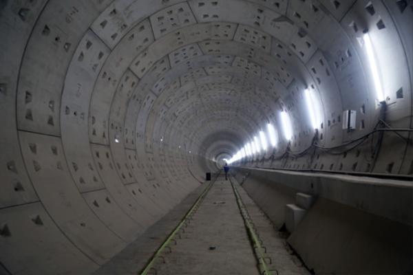 Hầm Metro nối từ ga Ba Son đến Nhà hát thành phố cơ bản hoàn thành. Ảnh: Hữu Công.
