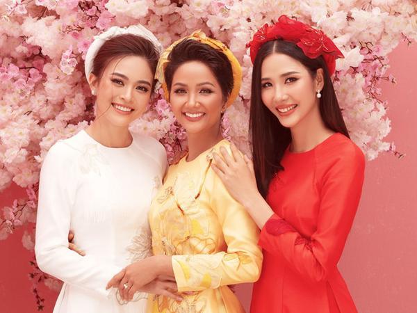 2 người đẹp H'Hen Niê và Hoàng Thùy vẫn là đồng nghiệp thân thiết mặc các tranh cãi không đáng có của fan.