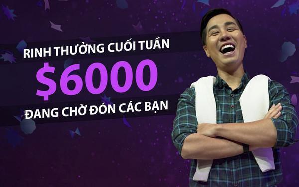 Giải thưởng của Confetti Vietnam vào 2 ngày cuối tuần (thứ 7 và chủ nhật) lên đến 6.000 USD (gần 140 triệu đồng).