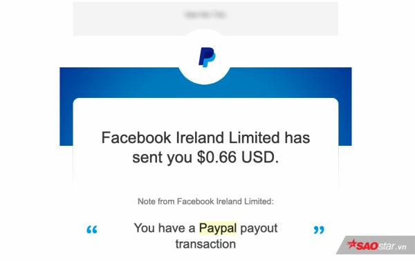 Facebook cho biết bạn sẽ nhận được tiền thưởng thông qua tài khoản PayPal trong vòng 10 ngày làm việc. Tuy nhiên thường thì bạn sẽ nhận được giải thưởng khá sớm.