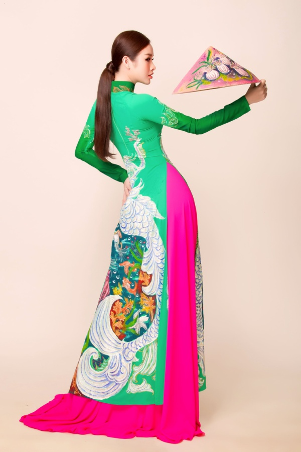 Á hậu Thanh Trang diện áo dài tha thướt, hé lộ ý nghĩa nhân văn phía sau