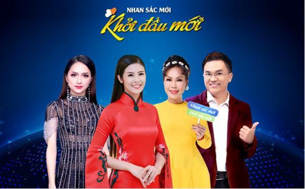 Nghệ sĩ Việt Hương hội ngộ cùng với Hoa hậu Ngọc Hân, MC Đại Nghĩa trong chương trình Nhan sắc mới,khởi đầu mới mùa 2