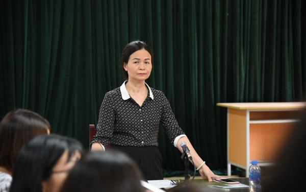 Bà Ngô Thị Thu Anh, hiệu trưởng trường THCS Trần Phú thông tin.
