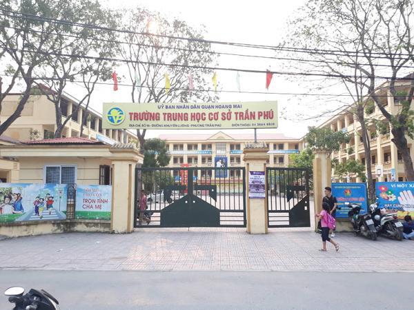 Trường THCS Trần Phú nơi thầy giáo bị tố dâm ô nhiều nam sinh.