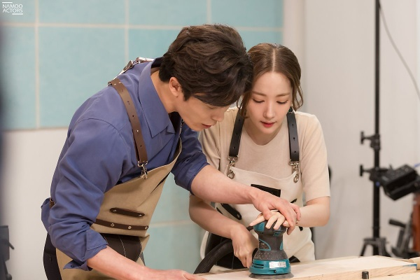 Watch behind-the-scenes photos of Park Min Young and Kim Jae Wook in drama 'Her Private Life' episode 8