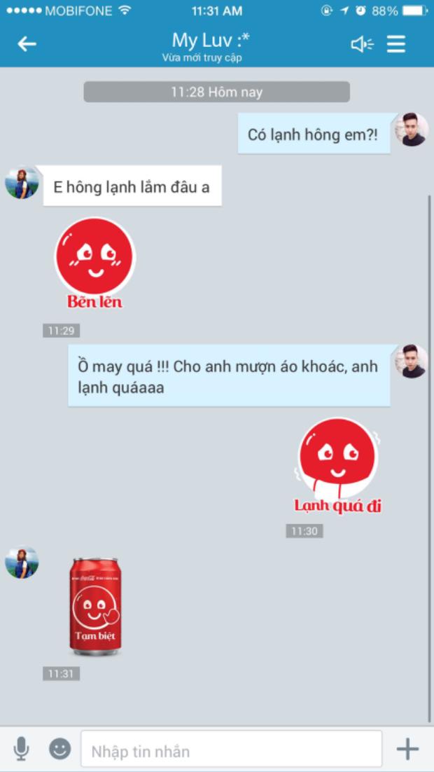 Sticker cảm xúc của Coca-Cola lập kỷ lục download trên Zalo
