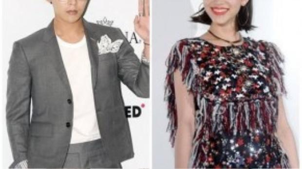 G-Dragon (tên thật là Kwon Ji Yong) và bạn gái người mẫu nổi tiếng Kiko Mizuhara.