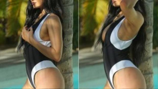 Vốn quen diện những bộ bikini, trang phục gợi cảm nên Kylie không ngần ngại phô diễn đường cong.
