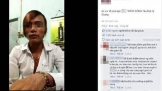 Trên facebook đăng tải đoạn video xin lỗi này cũng đưa ra nhiều thông tin biện hộ cho anh ta.
