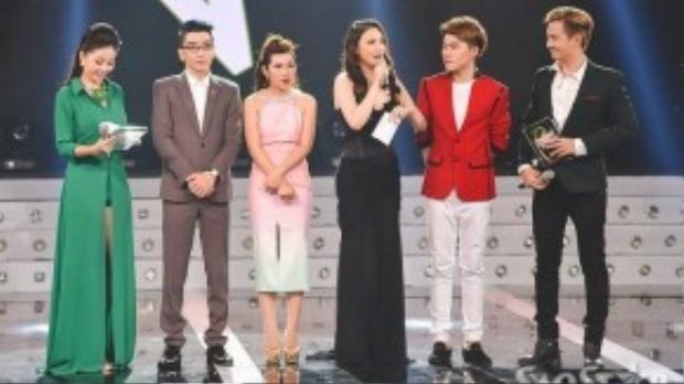 Nữ ca sĩ cũng là người công bố Thí sinh được yêu thích nhất thông qua tin nhắn bầu chọn của khán giả là thí sinh Phạm Chí Thành.