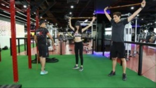 Quang Hùng, Quỳnh Châu cố gắng tập luyện để có thân hình chuẩn và phong độ tốt nhất cho buổi diễn sắp tới
